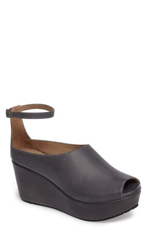 Walter Ankle Strap Wedge Sandal