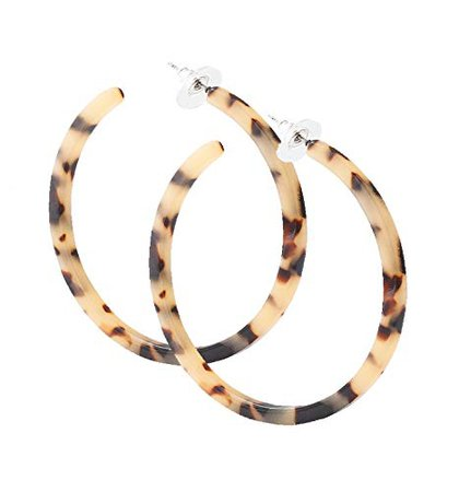 Amazon.com: PHALIN JEWELRY Acrylic Earrings Hypoallergenic Resin Hoop Earrings Set for Women and Girls(1# - A 1PC Leopard Large): Clothing