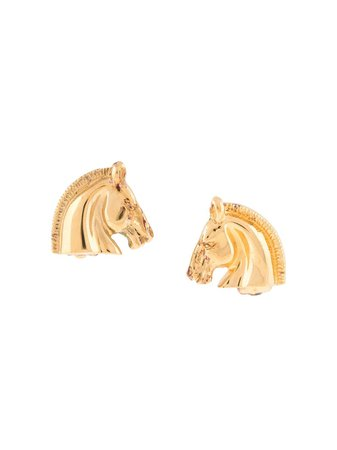 Hermès 1990s pre-owned Cheval Earrings - Farfetch