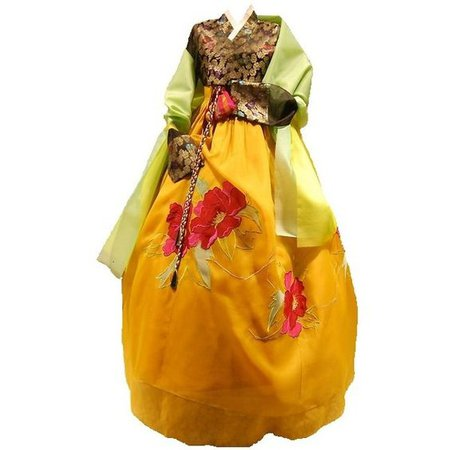 Yellow and Green Hanbok 1