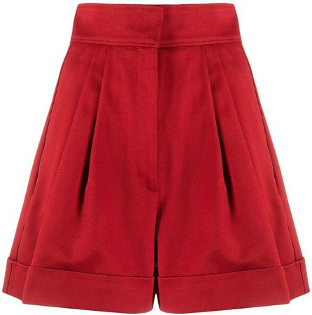 High-Rise Pleated Shorts