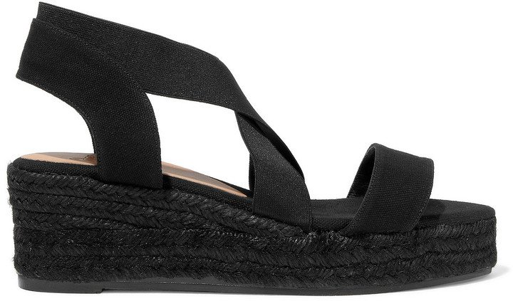 Bernard Cotton-blend Canvas Wedge Espadrille Sandals