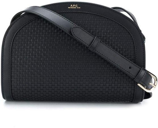 Rounded Woven Crossbody Bag