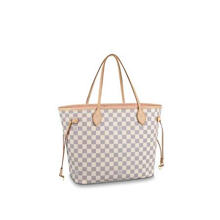 Neverfull MM Damier Azur Canvas - Handbags | LOUIS VUITTON ®