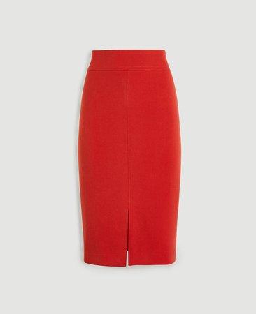 Topstitched Pencil Skirt | Ann Taylor