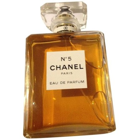 glass chanel perfume orange