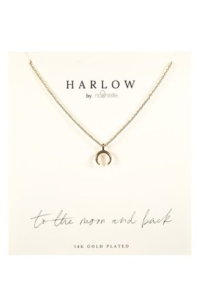 HARLOW by Nashelle Crescent Moon Boxed Necklace   Nordstrom