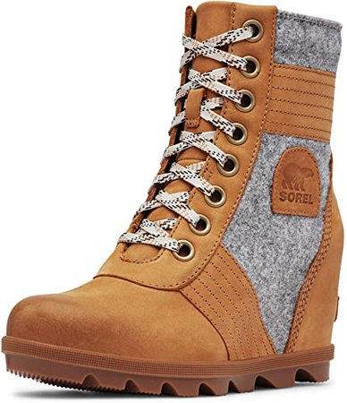 Amazon.com | Sorel Women's Lexie Wedge Boots | Ankle & Bootie