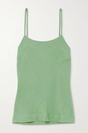 Sage green + NET SUSTAIN x LG Electronics linen camisole | BONDI BORN | NET-A-PORTER