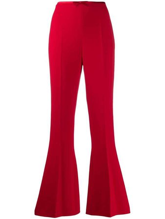 flared high rise trousers