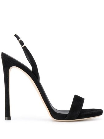 Black Giuseppe Zanotti open-toe strappy heeled sandals - Farfetch