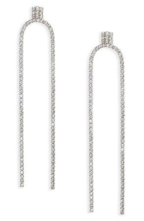 CRISTABELLE Double Strand Linear Drop Earrings   Nordstrom