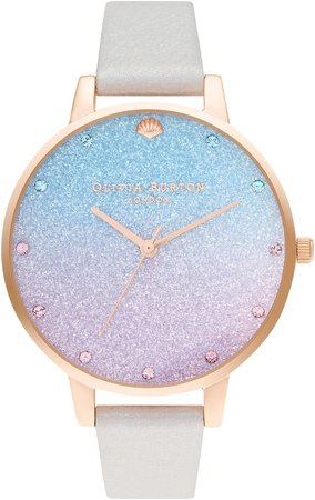 Under the Sea Glitter Ombre Dial Watch, 38mm