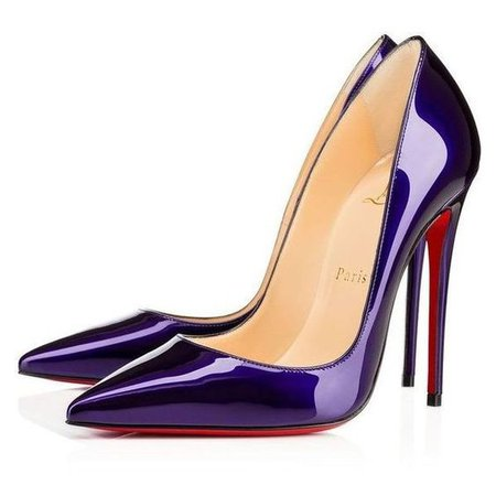 Dark Purple Louboutin Heels