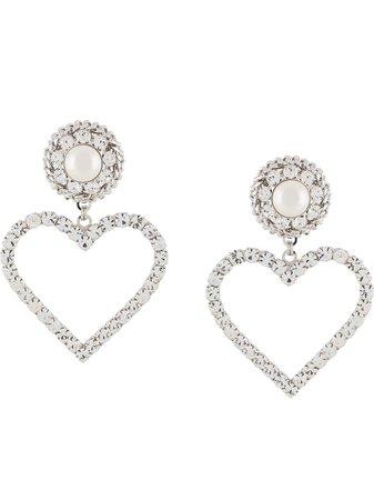 Alessandra Rich Oversized Heart Earrings - Farfetch