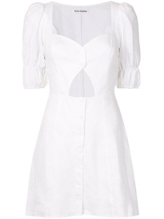 White Reformation Clay mini dress 1306192WHT - Farfetch