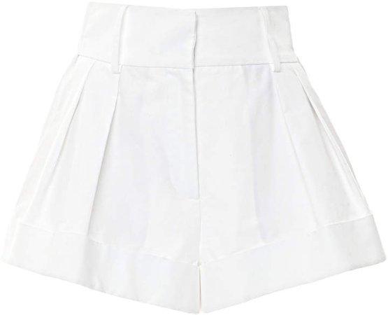 High-Rise Pleated Mini Shorts