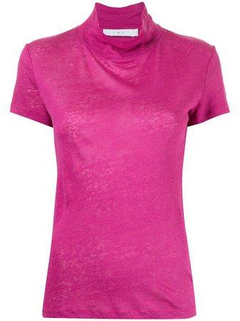 IRO roll-neck linen T-shirt - FARFETCH