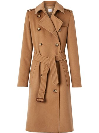 Burberry Cashmere Trench Coat - Farfetch