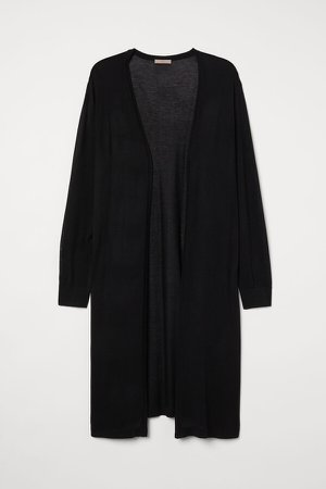 H&M+ Long Cardigan - Black