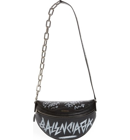 Balenciaga Graffiti Souvenir Leather Belt Bag | Nordstrom