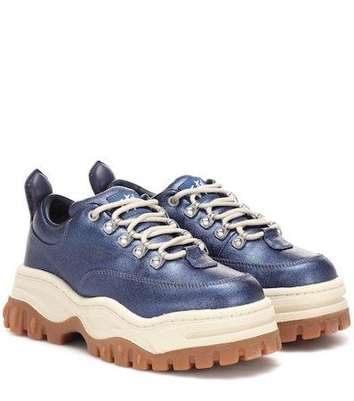 Angel platform twill sneakers