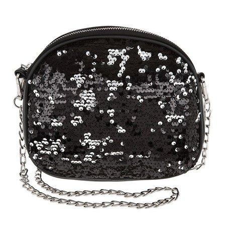 Black Sequin Shoulder Bag - The Perfect Size