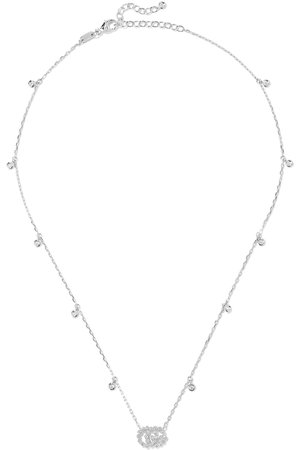 Gucci 18-karat white gold diamond necklace