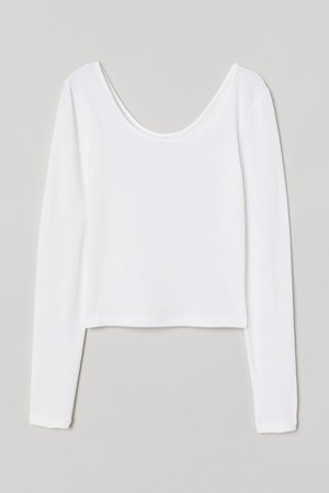 Cotton Jersey Top - White