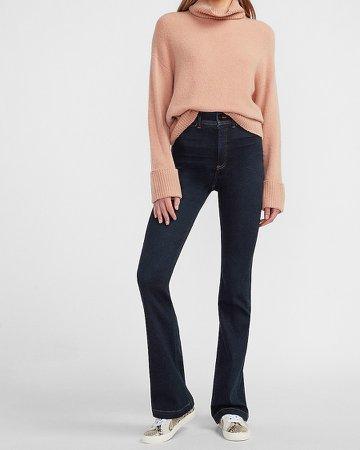 Super High Waisted Dark Wash Bootcut Jeans