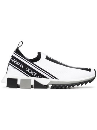 Shop white Dolce & Gabbana logo print sneakers with Express Delivery - Farfetch