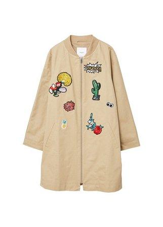 MANGO Decorative patches cotton jacket