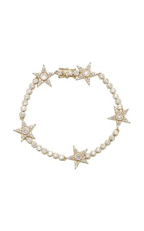 14K Gold Diamond Tennis Bracelet by Sheryl Lowe | Moda Operandi
