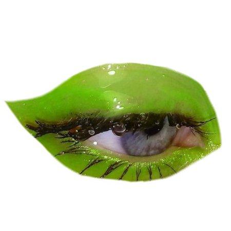 neon green eye makeup PNG