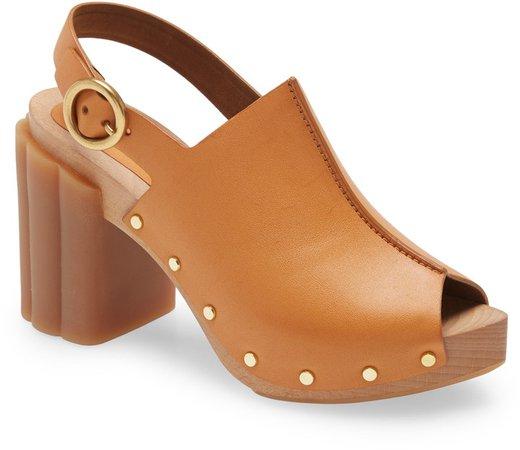 Daisy Slingback Platform Sandal