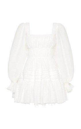 Impression Smocked Poplin Mini Dress By Aje | Moda Operandi