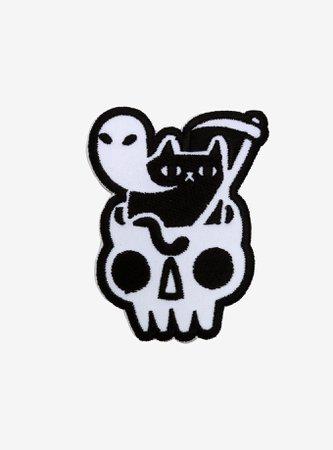 Reaper Cat Skull Ghost Patch