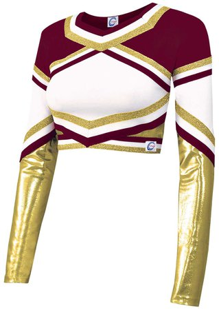 maroon cheer top