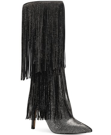 Black INC International Concepts INC Ishani Fringe Boots, Created for Macy's & Reviews - Boots - Shoes - Macy's