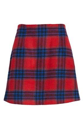 BP. Plaid Melton Skirt | Nordstrom