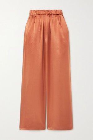Copper Silk-satin wide-leg pants | Co | NET-A-PORTER