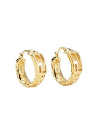 Fendi FF Baguette Hoop Earrings - Farfetch