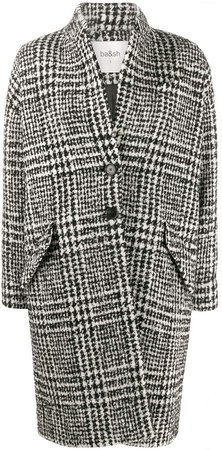 Poris houndstooth coat