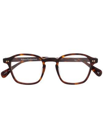 Kaleos Square Frame Glasses - Farfetch