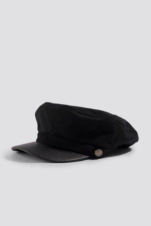 Felt Baker Boy Hat Black | na-kd.com