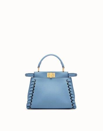 Pale blue leather bag - PEEKABOO MINI | Fendi