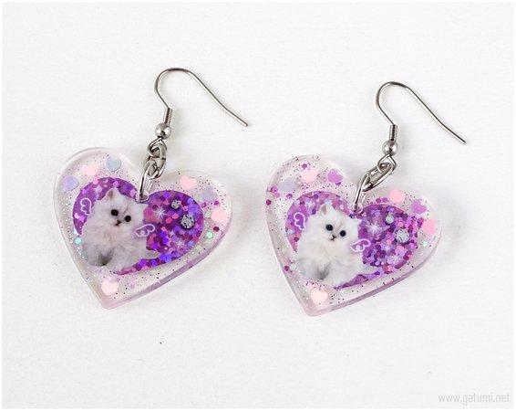 Cute Cat Earrings, Kawaii Jewelry, Jfashion, Harajuku, Pastel Goth on Storenvy