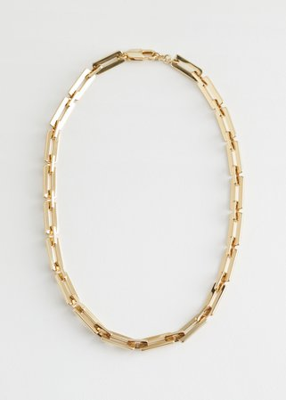 Geometric Chain Necklace - Gold - Necklaces - & Other Stories
