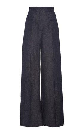Linen Wide-Leg Pants by Martin Grant | Moda Operandi