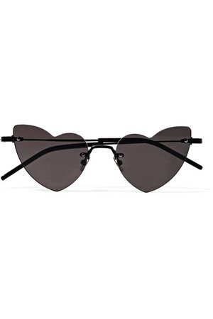 Saint Laurent | New Wave Loulou heart-shaped metal sunglasses | NET-A-PORTER.COM